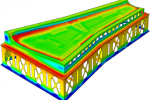 Thermal gradients in wing skin and tool
